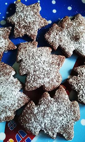 Корично-шоколадное новогоднее печенье, rjhbxyj-ijrjkаlyjt yjdjujlytt gtxtymt
