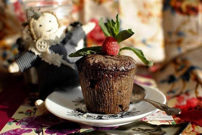 Шоколадно-малиновые маффины, ijrjkаlyj-vаkbyjdst vаaabys
