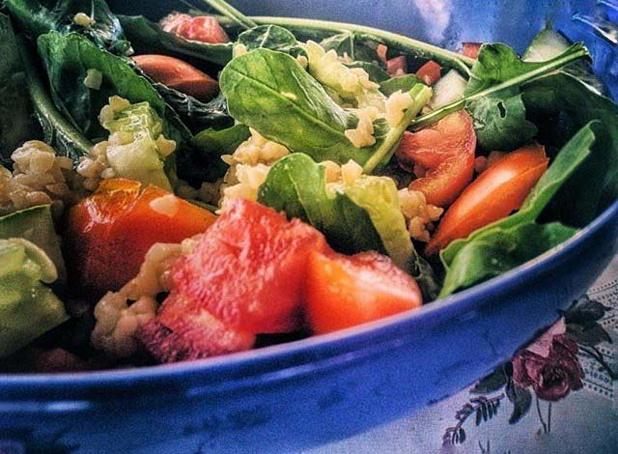 Булгур сосвежими овощами, ,ekueh cjcdt;bvb jdjoаvb