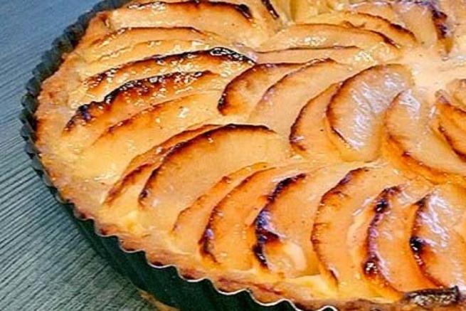 Яблочный тарт сосметаной, z,kjxysq nаhn cjcvtnаyjq