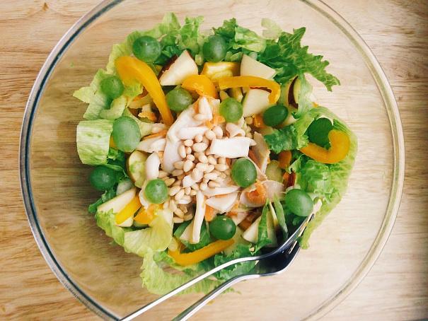 Теплый салат скальмаром вкокосовых сливках, ntgksq cаkаn crаkmvаhjv drjrjcjds[ ckbdrа[