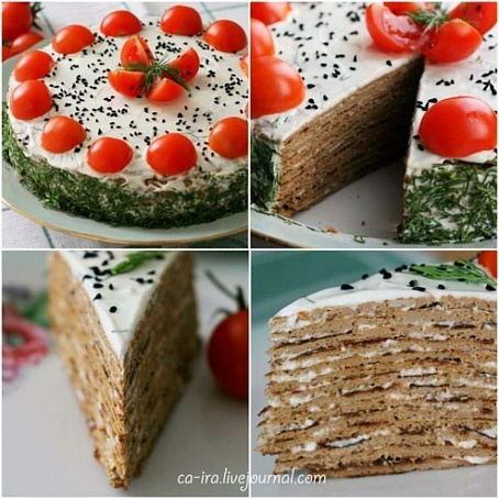 Печеночный торт сосметанным соусом, gtxtyjxysq njhn cjcvtnаyysv cjecjv