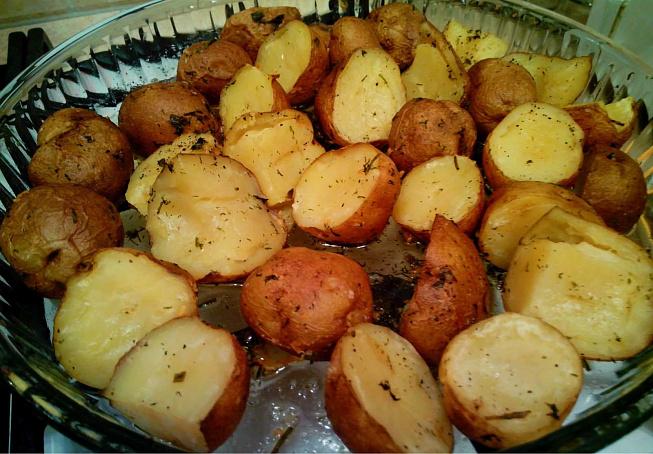 печеные кабачки с картошкой