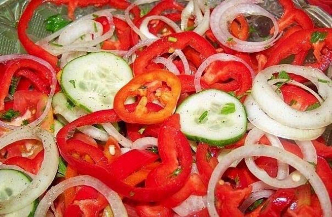 Овощной салат по‑армянски, jdjoyjq cаkаn gj‑аhvzycrb