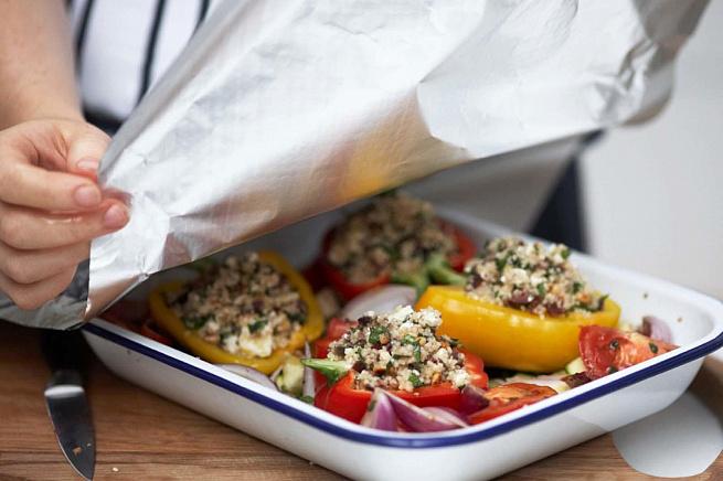 Запеченный перец скускусом ифетой наподложке иззапеченных овощей, pаgtxtyysq gthtw crecrecjv batnjq yаgjlkj;rt bppаgtxtyys[ jdjotq