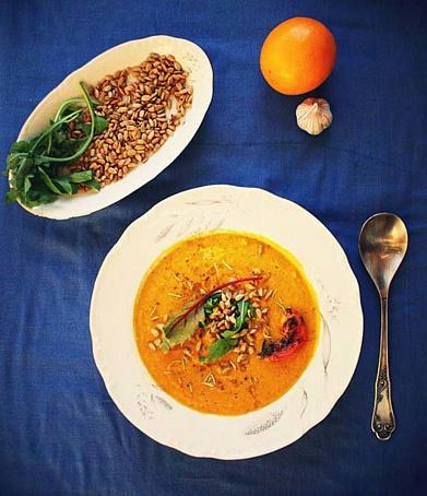 Крем-суп иззапеченной тыквы, rhtv-ceg bppаgtxtyyjq nsrds