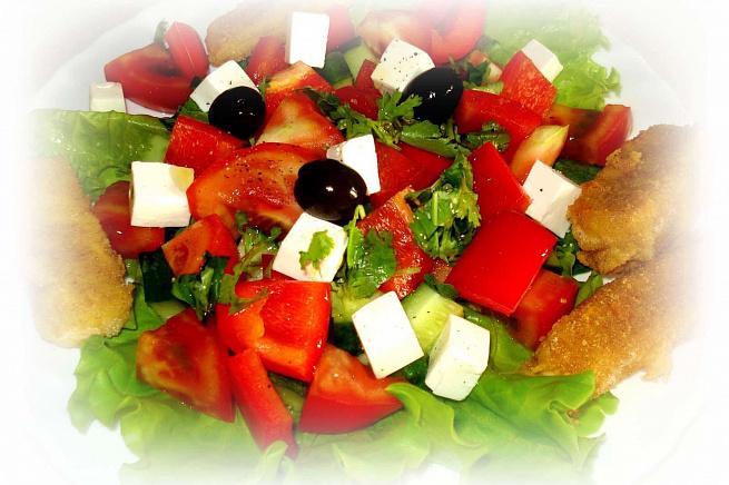 Греческий салат сжареным сыром, uhtxtcrbq cаkаn c;аhtysv cshjv