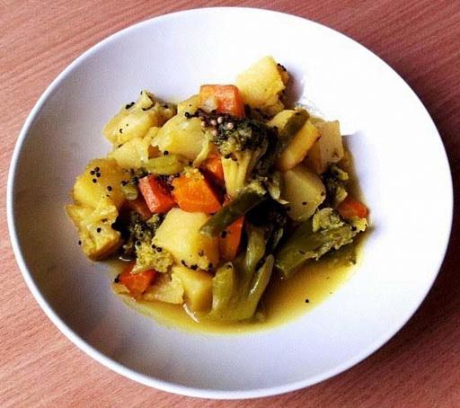 Сабджи (индийское овощное рагу), cа,l;b (bylbqcrjt jdjoyjt hаue)