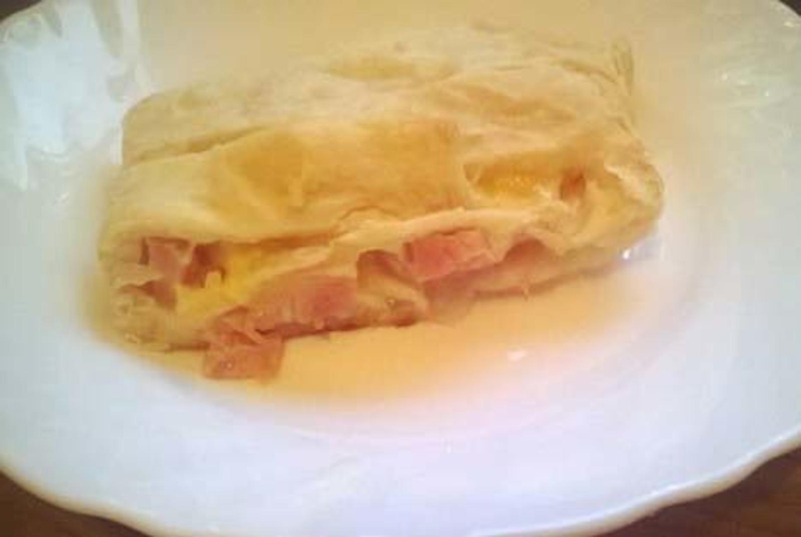 слоеное тесто и ветчина рецепт с фото усадьбы баженовский скотный