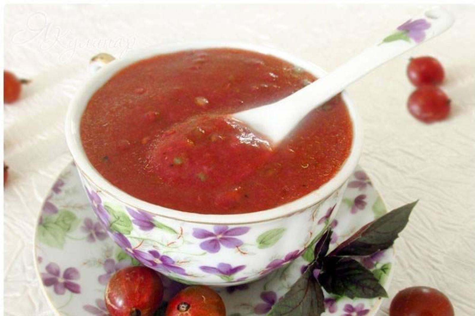предсказуемо рецепты соусов из крыжовника с фото арабис красив